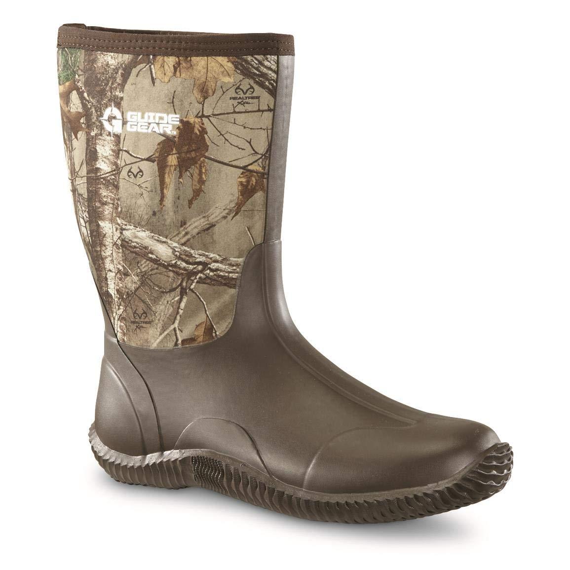 Guide Gear Men's Mid Camo Bogger Rubber Boots