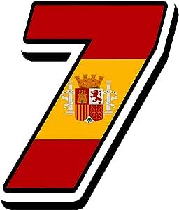 Biomar Labs® Número 7 Bandera Nacional España Spain Calavera ...