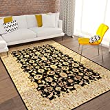 """Home Way Turkish Antique Royalty Design Traditional Lotto Black Carpet Eclectic for Modern and Classic Interiors Oriental 8×10 [ 7'10"""" x 9'10"""" ] Area Rug Review"""