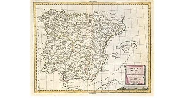 Hispania Antiqua. Anciencia/Iberia Romana. España & Portugal. ZATTA 1785 - Mapa Antiguo Vintage Impreso mapas de Iberia: Amazon.es: Hogar