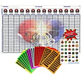 "2018 Fantasy Football Draft Kit | Jumbo Color Draft Board 60"" x 36""