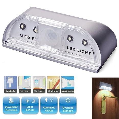 LED de luz nocturna Sensor de luz, LED Llave agujero luz con adhesivo, del