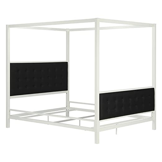 . Amazon com  DHP Soho Canopy Bed   Queen  Kitchen   Dining