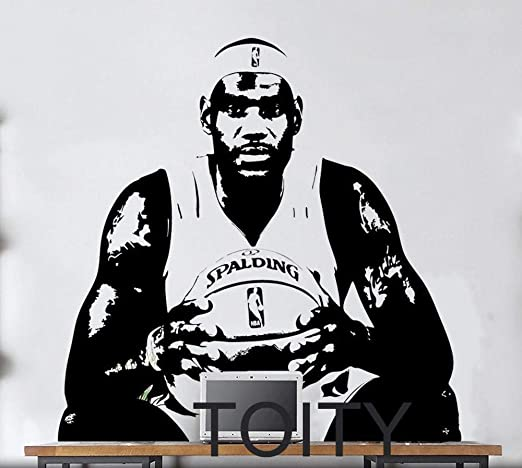 Luziang Pegatinas de Pared,NBA Lebron James Pared Pegatinas niños ...