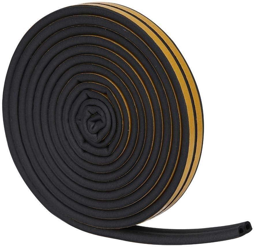 Maxmartt 5 Meters 96mm Self-adhesive Door Window Sound Insulation Sealing Strip Rubber Seal Black