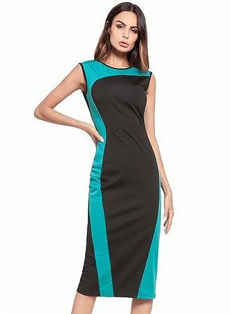 Easy Go Shopping Vestido de Mujer Vestido de Retazos de ...