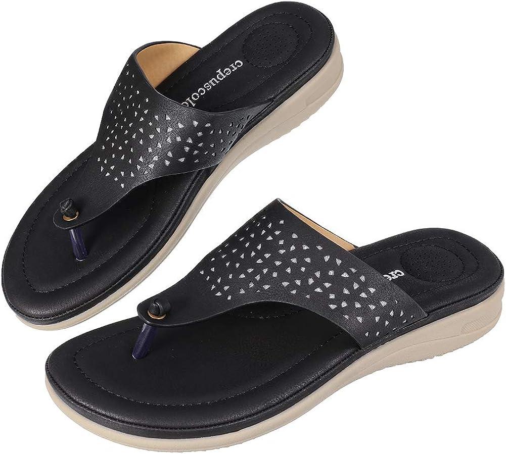 CREPUSCOLO Women's Casual Flip-Flops