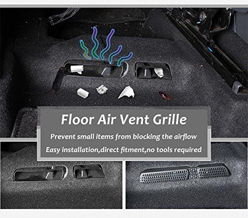 Auto Air Vent Abdeckung F/ür Kodiaq Karoq R/ücksitz Klimaanlage Outlet Cover 2 ST/ÜCKE
