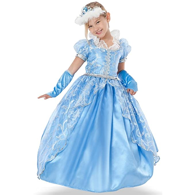 Teetot Princess Factory Girlu0027s Blue Princess Costume with Tiara ...  sc 1 st  Amazon.com & Amazon.com: Teetot Princess Factory Girlu0027s Blue Princess Costume ...