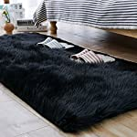 Carvapet Luxury Soft Faux Sheepskin Fur Area Rugs for Bedside Floor Mat Plush Sofa Cover Seat Pad for Bedroom, 2.3ft x 5ft