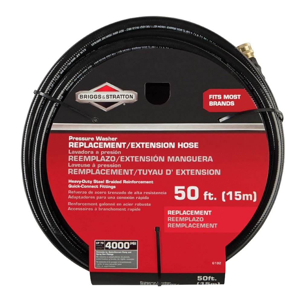 Briggs & Stratton 6192 Pressure Washer Replacement and Extension Hose, 50-Feet