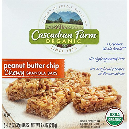 cascadian-farm-granola-bar-organic-chewy-peanut-butter-chocolate-chip-74-oz-case-of-12