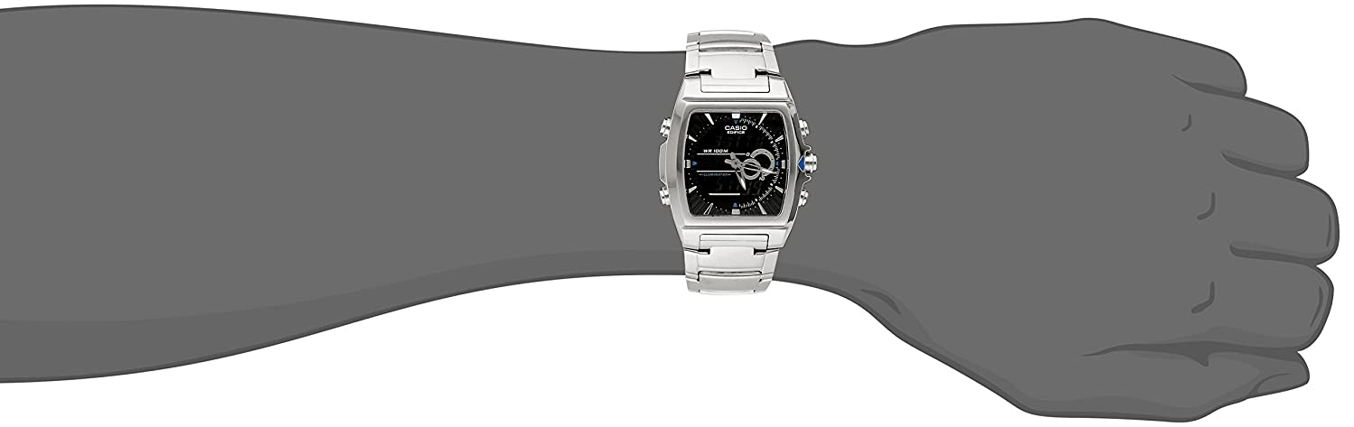 4749d03a675c Amazon.com  Casio Men s EFA120D-1AV Ana-Digi Edifice Thermometer Bracelet  Watch  Casio  Watches