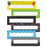 Trend Bright Nameplate Set, 11.5 x 3.5, Assorted Colors, 216/Set (9939)
