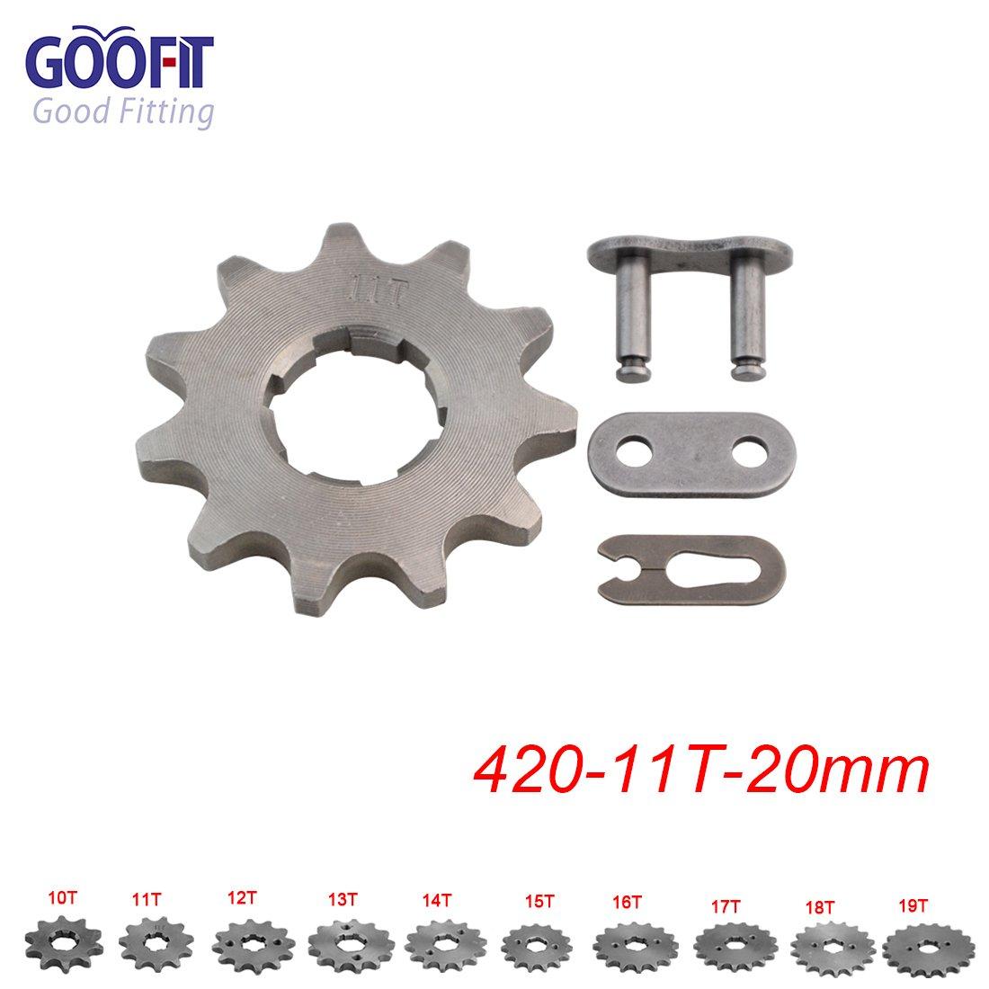 Goofit 420 19 T 20mm dents moto Pignon moteur Pignons coniques de cha/îne Engine For 50cc 70cc 90cc 110cc Motorcycle Dirt Bike ATV Quad