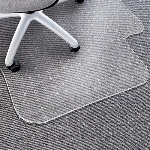 "Matladin Upgraded Heavy Duty 48"" x 36"" PVC Chair Mat for Carpeted Floors with Lip, 3mm Transparent Desk Chair Mat for Low Standard Medium Pile Carpet, Lipped Flooring Protector for Office Home by Matladin"