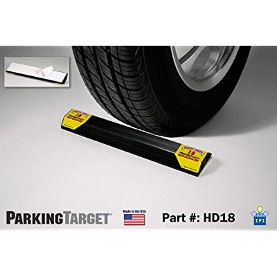 PARKING TARGET HD18: Heavy Duty ParkingTarget - Parking Aid Protects Car and Garage Walls - Easy to Install – Peel n Stick - Only 1 Needed per Vehicle – Engineered to Outlast your Vehicle - Great Gift: Automotive