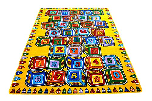 Mybecca ABC Blocks 8' X 11' Kids Learning Rugs Classroom Area Playtime Rug - size approximate ( 7'10'' X 11'3'') by Mybecca (Image #3)