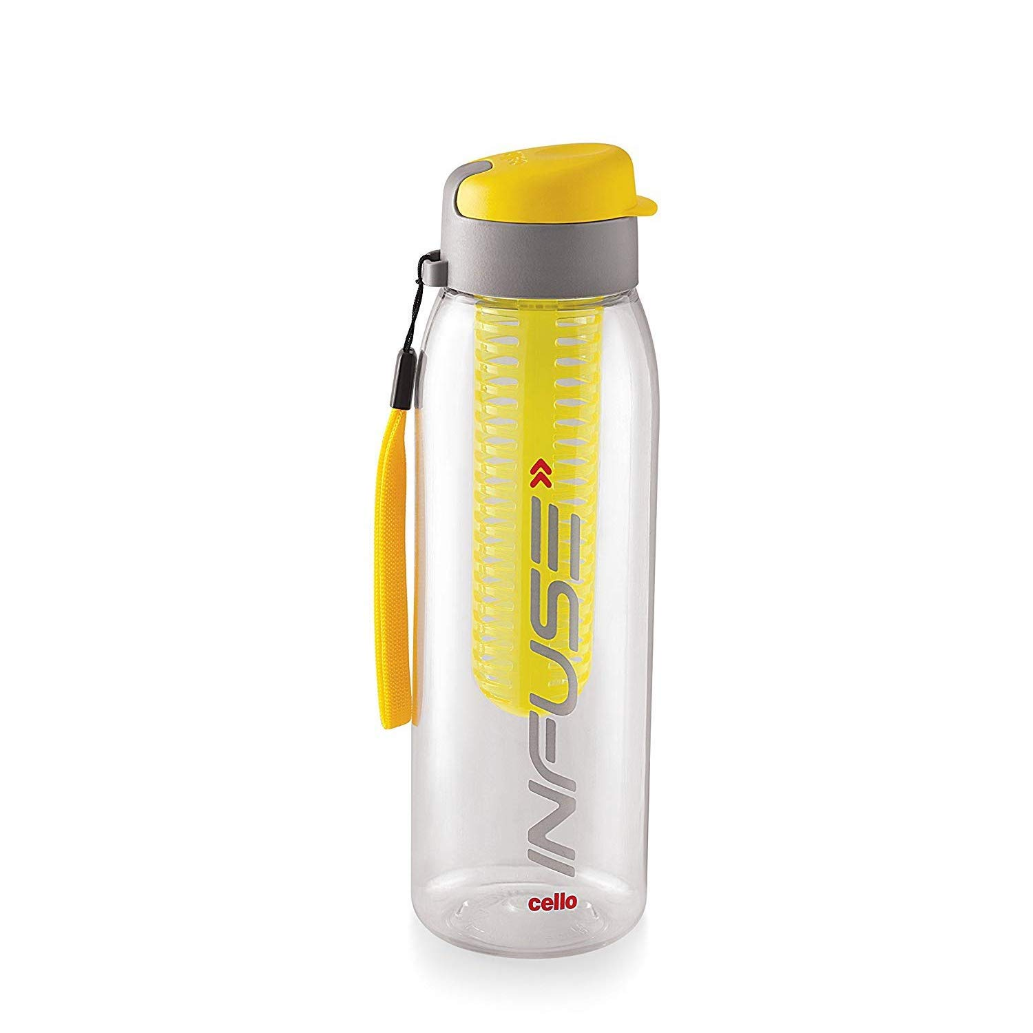 Cello Infuse Plastic Water Bottle, 800 ml, Yellow