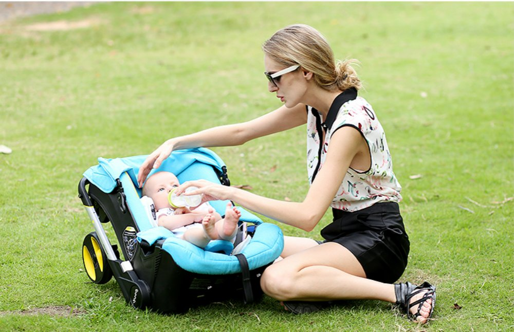 2015 New High Landscape Baby Stroller 3-in-1 Baby Stroller (Pink) by Hot Mon (Image #7)