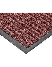 "NoTrax T39 Bristol Ridge Scraper Carpet Mat, for Wet and Dry Areas, 4' Width x 8' Length x 3/8"" Thickness, Cardinal"