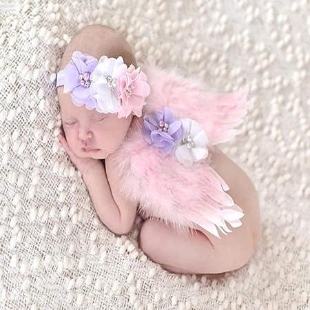 BESTOYARD Ferroviario fotografía bebé ángel alas Plumas Diadema ...