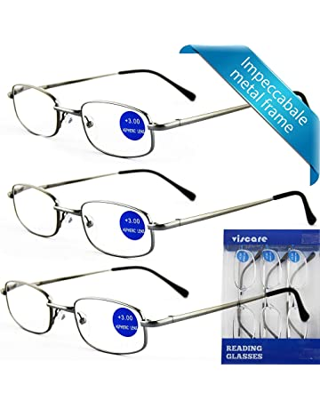 94b454ebd2 IMPECCABLE METAL frame and crystal clear vision - Viscare 3-Pack Men Women  Metal Spring