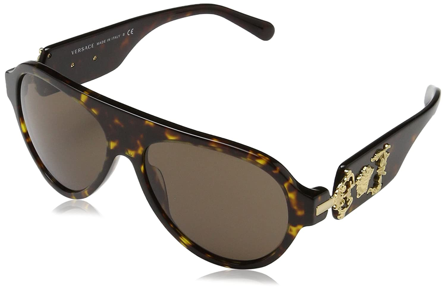 07ef8dc74acf Amazon.com  Versace Men s VE4323 Havana Brown Sunglasses  Clothing