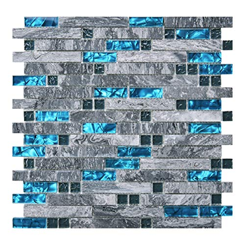 Art3d Decorative Tile for Kitchen Backsplash or Bathroom Backsplash 5 Pack