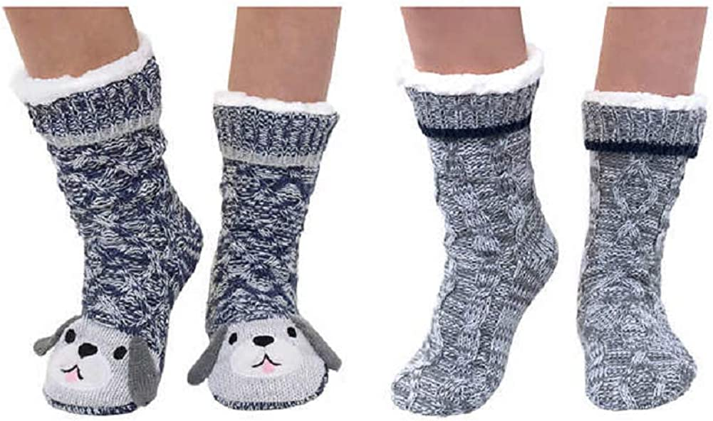 Jane and Bleecker 2 Pair Slipper Socks