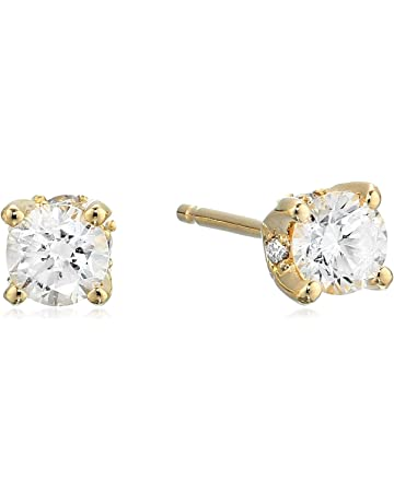 284c94c36 0.50 Carat Certified Diamond Stud Earrings, (K-L Color, I1-I2 Clarity)