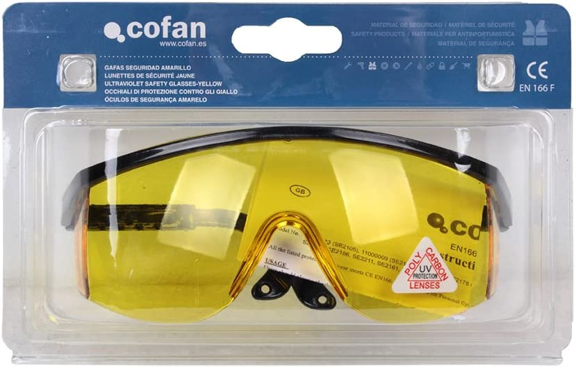 Cofan 11000021BL Gafas de Seguridad Ultravioleta