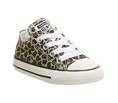 663c330ed0 Converse Unisex Kinder Chuck Taylor All Star Core Ox Sneakers, Mehrfarbig -  Leopard