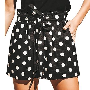 reunirse 7e9c4 1540f Riono Lunares Mujer Pantalones Cortos de Playa, Pantalón ...