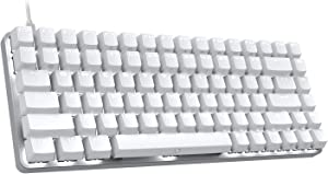 DREVO Excalibur 84 Full Metal Mechanical Gaming Keyboard with White LED Backlit (Outemu Brown Switch, White)
