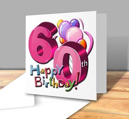 Auguri Buon Compleanno 60.Biglietto Di Auguri Di Buon Compleanno 60 Anni Femmina