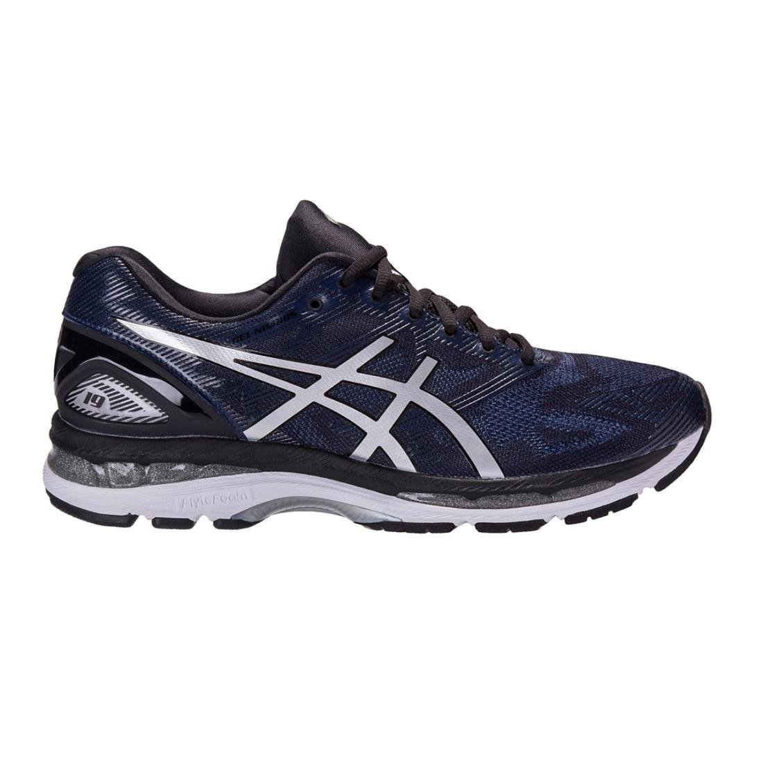 ASICS Men's Gel-Nimbus 19 Running Shoe Peacoat/Silver/Black, 12 D(M) US