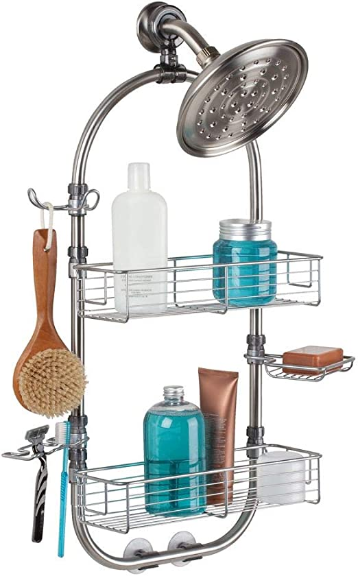 Shower Caddy w// Mirror Stainless Steel w// polished chrome rust free material