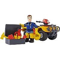 Simba 109257657 - Feuerwehrmann Sam Mercury-Quad mit Figur und Zubehör