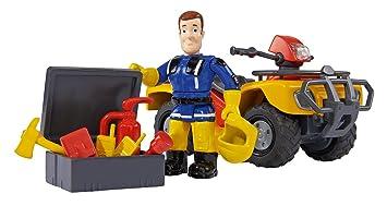 Simba 109257657 Feuerwehrmann Sam Mercury Quad Mit Figur Und
