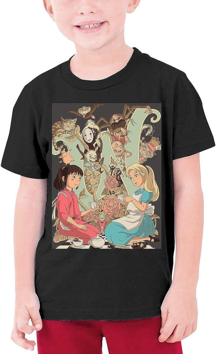 HAPPYHAPPYHAPPY Wonderlands Boys Girls Short Sleeve T-Shirt Black