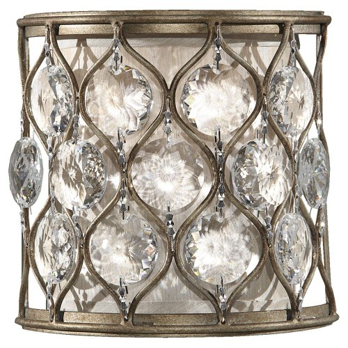 Murray Feiss WB1497BUS, Lucia Sconce, 1 Light, 60 Watts, Burnished Silver (Lucia 1 Light)