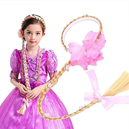 HilMe Rapunzel Cabello Trenza, Princesa Disfraz Accesorios Cosplay ...
