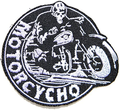 t Logo Motorcycle Chopper Biker Rider Racer Hippie Tatoo Jacket T-shirt Patch Iron on Embroidered Applique Sign Badge Costum ()