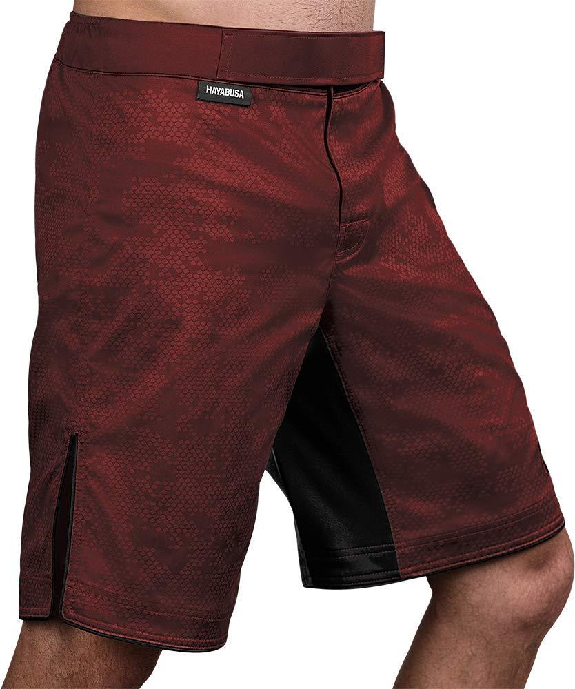 Hayabusa | Hexagon Board Style | Workout and MMA Training Shorts | Burgundy, X-Large by Hayabusa