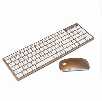 ZYPMM Home Mini Mouse inalámbrico para teclado Ultra fino portátil para PC de escritorio (Color