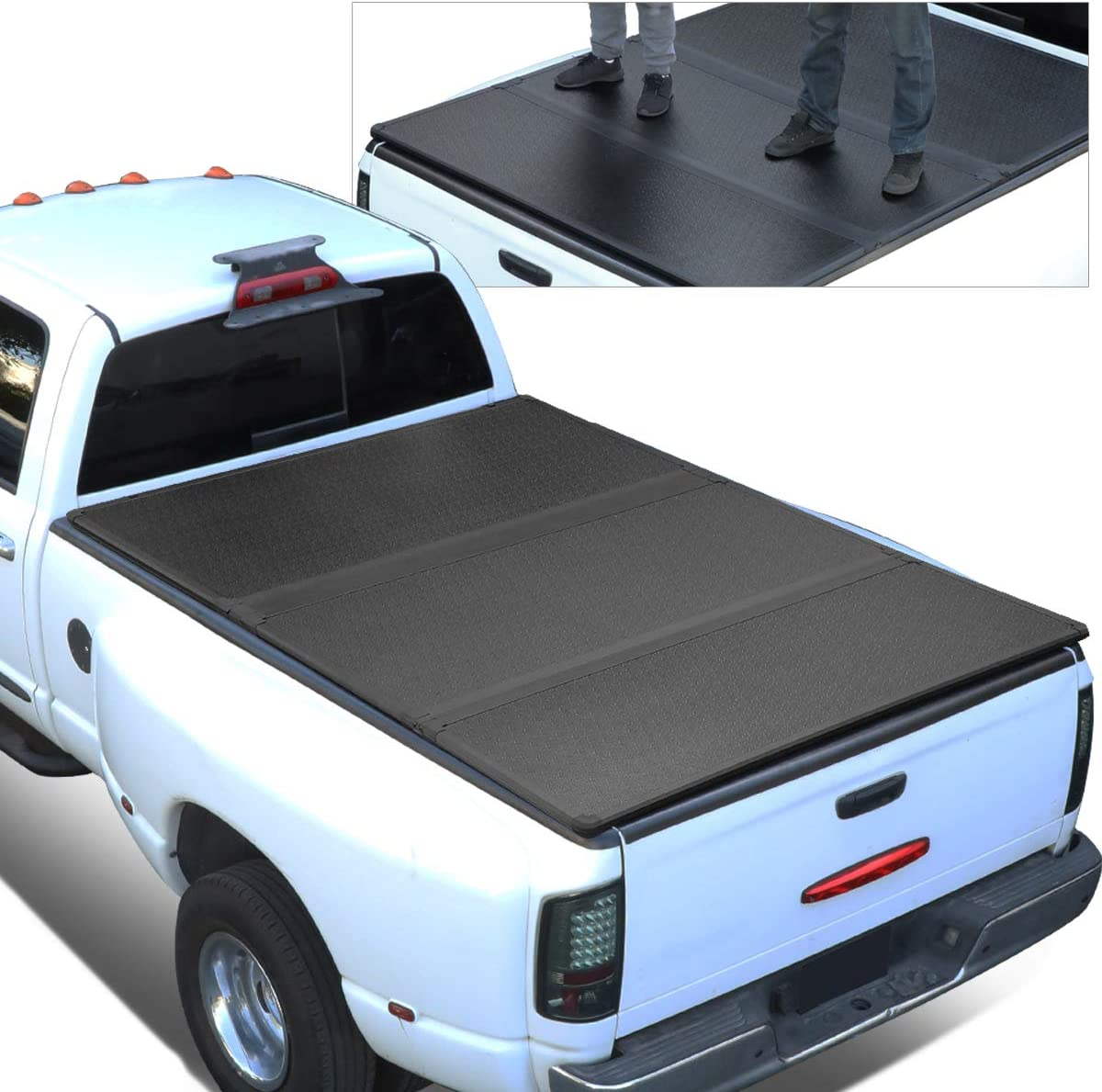 Amazon Com Replacement For 15 18 Ford F150 Truck 5 5ft Short Bed Frp Hard Solid Tri Fold Tonneau Cover Automotive