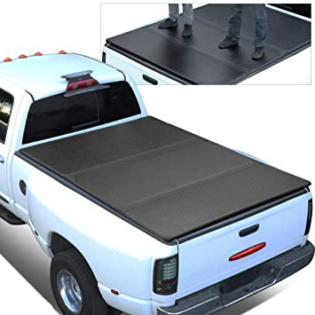 Ford F150 Hard Bed Cover >> For 15 18 Ford F150 Truck 5 5ft Short Bed Frp Hard Solid Tri Fold Tonneau Cover