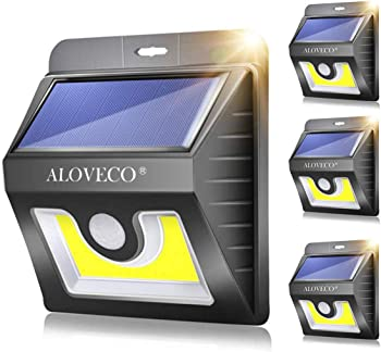 Aloveco Solar Wall Motion Sensor Lights