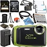 Fujifilm FinePix XP130 Digital Camera (Lime) #600019825 + Fujifilm XP Series Digital Camera Standard Accessory Kit + 64GB SDXC Card + Replacement Lithium Ion Battery + External Charger Bundle